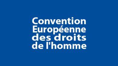 Photo de Convention Européenne des droits de l'homme